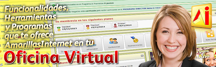 Funcionalidades, Herramientas y Programas que te ofrece Amarillas en tu Oficina Virtual